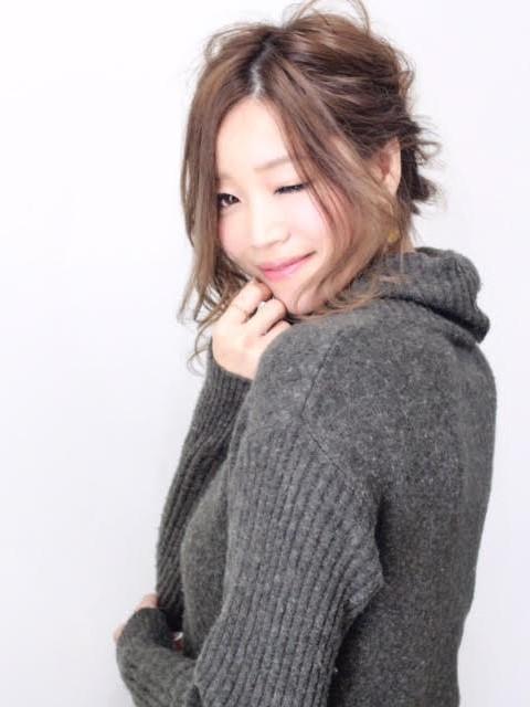 かきあげミディ&ルーズアレンジカット写真