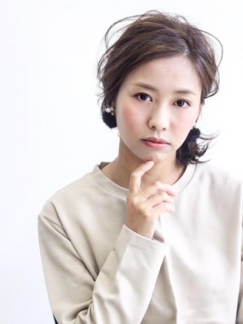 かきあげアシメボブ&ミニマムアレンジカット写真