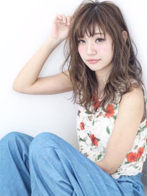 シャビーロング&お団子アレンジ写真