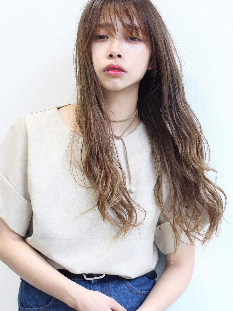 ヘルシーロング&編みおろしお団子アレンジ写真